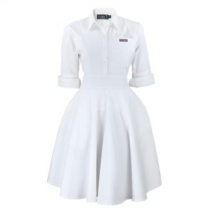 White Nursing Uniform Scrub Dress