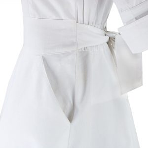 White Nursing Uniform View Of Deep Side Pockets